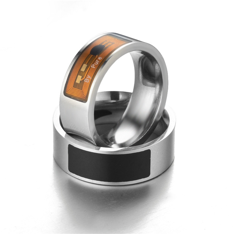 NFC Smart Ring New Technology Smart Wear Ring Smart Ring Polarizer Access  Card Black 10#