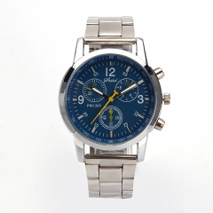 2019 watch men New High quality brand men Fashion watches Stainless Steel  Quartz Hour Wrist  Watch Blue one size