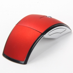 Wireless Mouse 2.4G Computer Mouse Foldable Folding Optical Mice USB Receiver for Laptop PC Computer Red one size