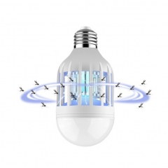 E27 15W Anti-Mosquito Electronic Pest Control light Bulb Flying Moths Killer lamp UV Trap light Blue As Shown 15W
