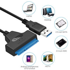 High Speed USB 3.0 to SATA Adapter Cable USB3.0 to 7+15 22Pin Converter for 2.5