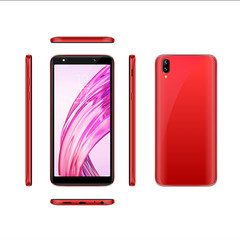 High-Quality P20 Pro 5.5in 1G+16G Full screen 2MP+5MP Smartphone Double SIM card Red