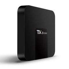 TX3 Mini TV Box S905W 2.4GHz WiFi Android 7.1 2GB RAM + 16GB ROM Support 4K Black as shown