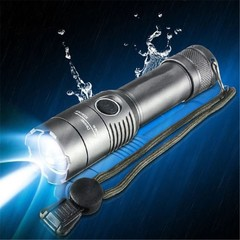 Aluminum alloy Rotating Focusing Lithium Battery Charging CREE T6 LED Flashlight Torch Black Flashlight