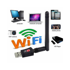 HOT USB WiFi Wireless N Adapter Wi-Fi Dongle 5dBi High Gain Power Antenna 802.11N T2 black as shown