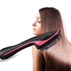 Dry and Wet Hair Curler Hair Dryer Straight Hair Comb Black one size