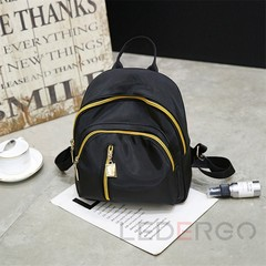 2019 New Fashion Ladies Oxford Cloth Backpack Women's Casual Backpack Black one size
