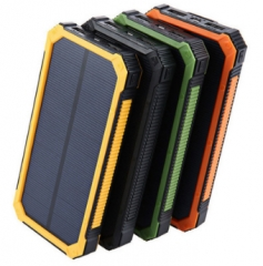 Mobile power supply and Solar mobile power 10000mah outdoor three - defense camping lamp black One Size