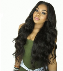 Wig In The Long Curly Hair Black Female High Temperature Silk Hood Big Wave black one size