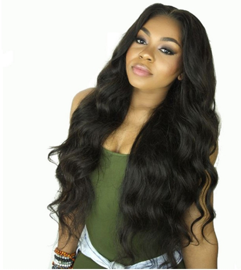 Wig In The Long Curly Hair Black Female High Temperature Silk Hood Big Wave wine red one size