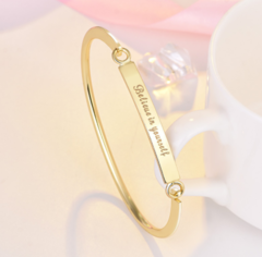 BelieveinYourself rose gold bracelet fashion lady golden one size
