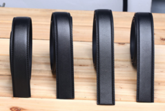 Real cowhide belt  Black headless waistband  3.5 CM wide Buy one get one free black 105-125