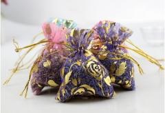 Lavender Sachet For Living Room  Car Office Bags Smell Sachet Natural Aromatic Flower Bud random color circular type
