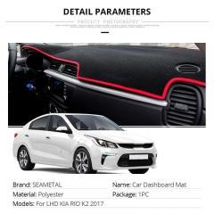 2018 Car Dash board Mat Covers  Pad Auto Shade Cushion Cars Interior Protector Platform Carpet black circular type