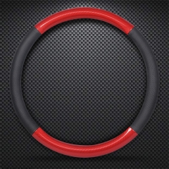 18 - year new car steering wheel cover summer non - slip four - year - general - type leather red roundness