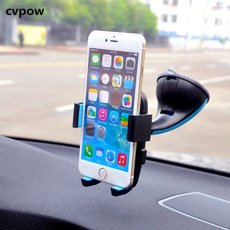 2018 GPS Mini Plastic Mobile Phone Support, Silicone Sucker Type GPS Holder  for xiaomi for iphone blue 135g