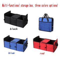 Multi-functional insulated box car reserve box 600D Oxford cloth storage box red surrounded by all