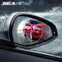 Rainproof film for car rear view mirror Anti Scratch Waterproof Rainproof Anti Fog Rear View Mirror white 98*98
