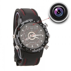 8GB Spy Camera Wrist Watch Digital Video Recorder Black 24.7 CM