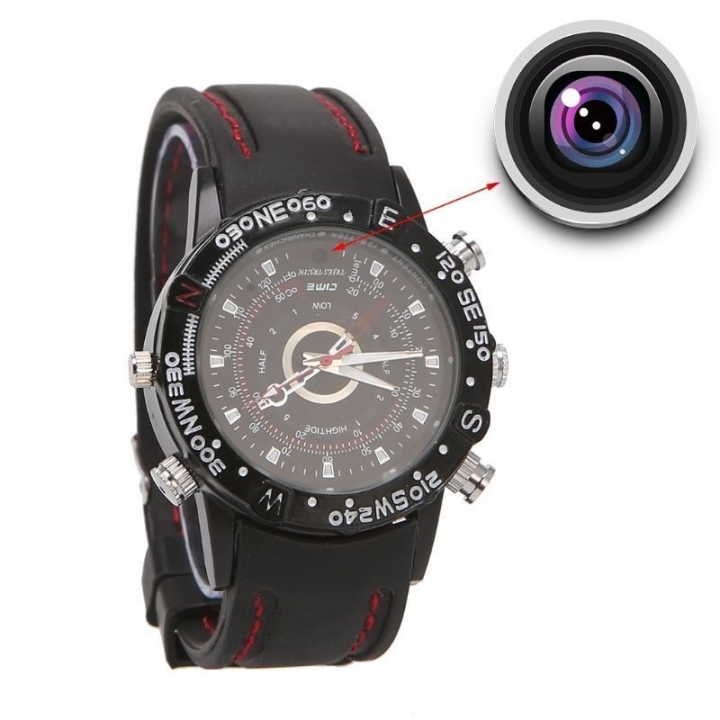 8GB Spy Camera Wrist Watch Digital Video Recorder Black 24.7 CM