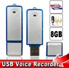 8GB Spy USB Voice Recorder  Sound Audio  Mini Digital Disk Pen Drive Dictaphone