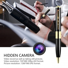 Mini Spy Camera Pen USB Hidden DVR Camcorder Video Audio Recorder Full HD 1080P Golden 15 cm