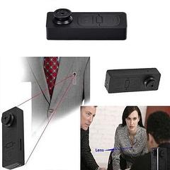 Spy Button Camera Video Photo Audio Recorder Black Mini