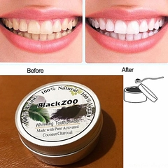 Teeth Whitening Powder Natural Organic Whitener Activated Charcoal Bamboo Dental Oral Hygiene Black