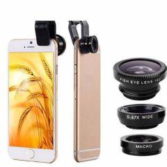 Mobile Phone Lenses Kit With Clip Fish Eye Lens Random Colour