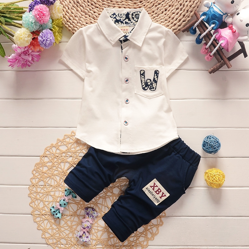 9ac754f2b Fashion Baby Boys Autumn Casual Clothing Set Kids Attire For Boy ...