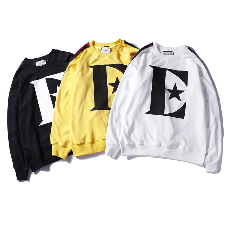 cbef5ca6 Fashion gucci streetwear casual american europe autumn Men women Hoodies  long sleeve Sport Hip Hop white l