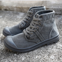 High Quality Paladin Martin Boots Safety Boots Suede Shoes Non-Slip Wear Resistant gray 39