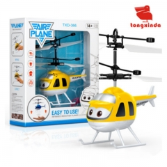 Children'S Toy Induction Aircraft Suspension RC Helicopter Feels The Balance Yellow plane one size