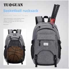 Men'S Rucksack Laptop Large Capacity Computer Bag Casual School Backpack Basketball Backpack 1696s-gray 17 inches