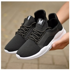 New Women's Sports Shoes Casual Shoes Women Breathable Fitness Running Shoes black 44