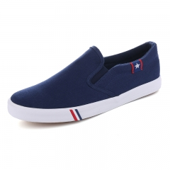 New Men's Canvas Flat Shoes Womens Casual Breathable Shoes Men Outdoor Non-Slip Shoes Big Size 35-47 Dark blue 41men