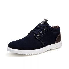 Mens Comfortable Casual Shoes Men Fashion Sneakers For Men British Style Flat Shoes blue 39