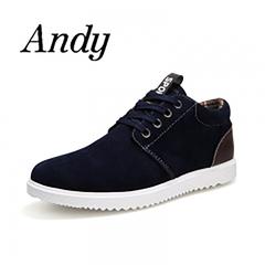 Men's  Fashion Casual Shoes Men Comfortable Breathable Shoes For Men British Style Flat Shoes blue 39