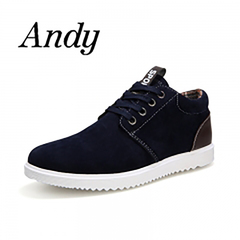 Men's  Fashion Casual Shoes Men Comfortable Breathable Shoes For Men British Style Flat Shoes blue 42