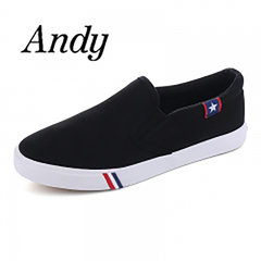 New Men's Canvas Flat Shoes Womens Casual Breathable Shoes British Style Canvas Shoes Big Size 35-47 black female37