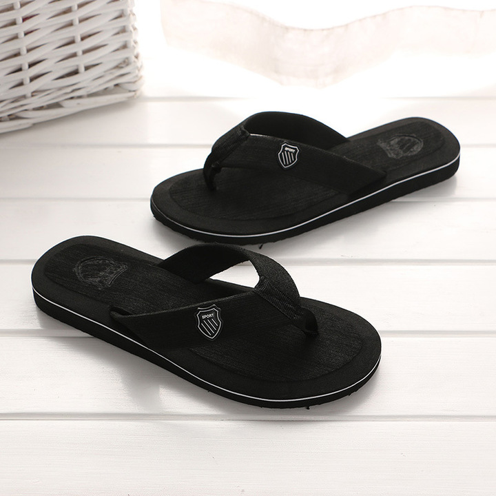 087f9f3ff608 New Arrival Summer Men Flip Flops High Quality Beach Sandals Anti-slip  Casual Shoes black