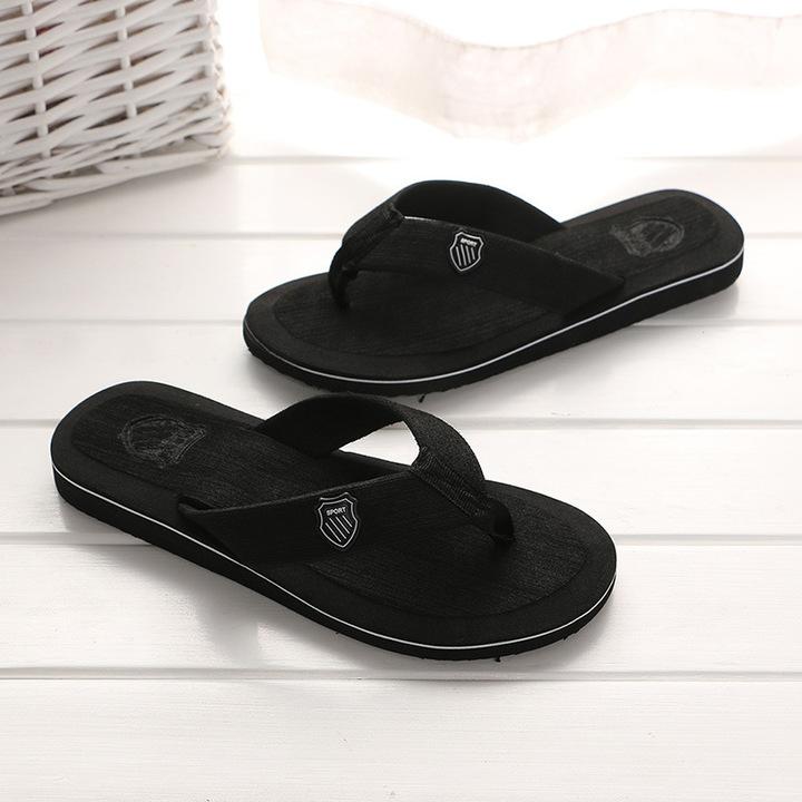3ce8b1a21 New Arrival Summer Men Flip Flops High Quality Beach Sandals Anti-slip  Casual Shoes black