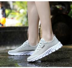 Plus Size 35-48 Summer Men Sneakers Air Mesh Women Shoes Breathable Casual Shoes Men'S Fashion Shoes Light Gray 47
