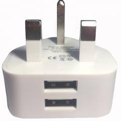 MSF-C-256 UK Standard Plug Travel universal Wall Charge Socket Power Adapter UK PLUG white 240V/2.1A White 4.5*4.5*4.5CM