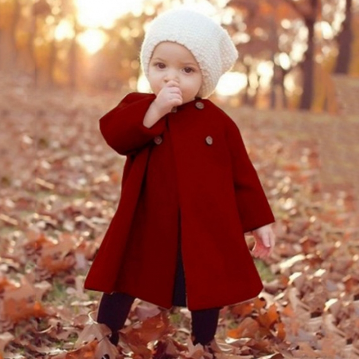 4dd8f9465 New children and baby winter round neck girls long sleeve cloak wool ...