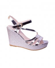 Classy and elegant ladies Wedge shoes   ZA-7 silver 36