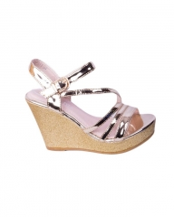 Classy and elegant ladies Wedge shoes   ZA-7 gold 37