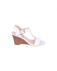 Classy and elegant ladies Wedge shoes with straps ZK-4 white 40