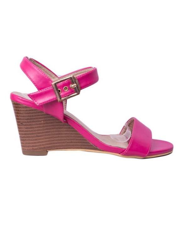 Classy and elegant ladies Wedge shoes with straps ZK-4 pink 41