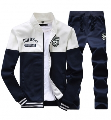 Men's clothing suit Korean version of the fashion students youth leisure sports jacket white 3xl